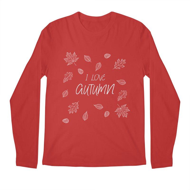 I love autumn (white) Men's Regular Longsleeve T-Shirt by Pbatu's Artist Shop