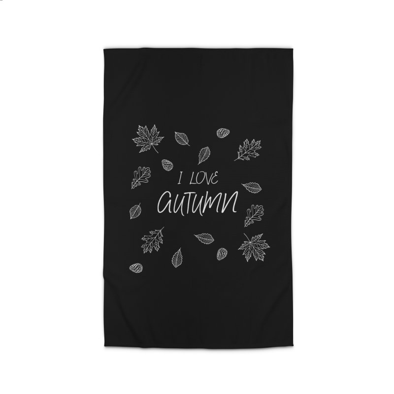 I love autumn (white) Home Rug by Pbatu's Artist Shop