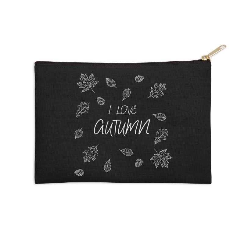 I love autumn (white) Accessories Zip Pouch by Pbatu's Artist Shop
