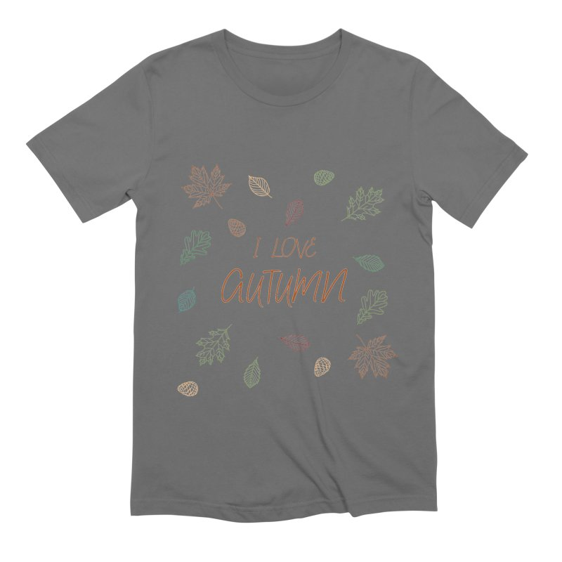 I love autumn Men's Extra Soft T-Shirt by Pbatu's Artist Shop