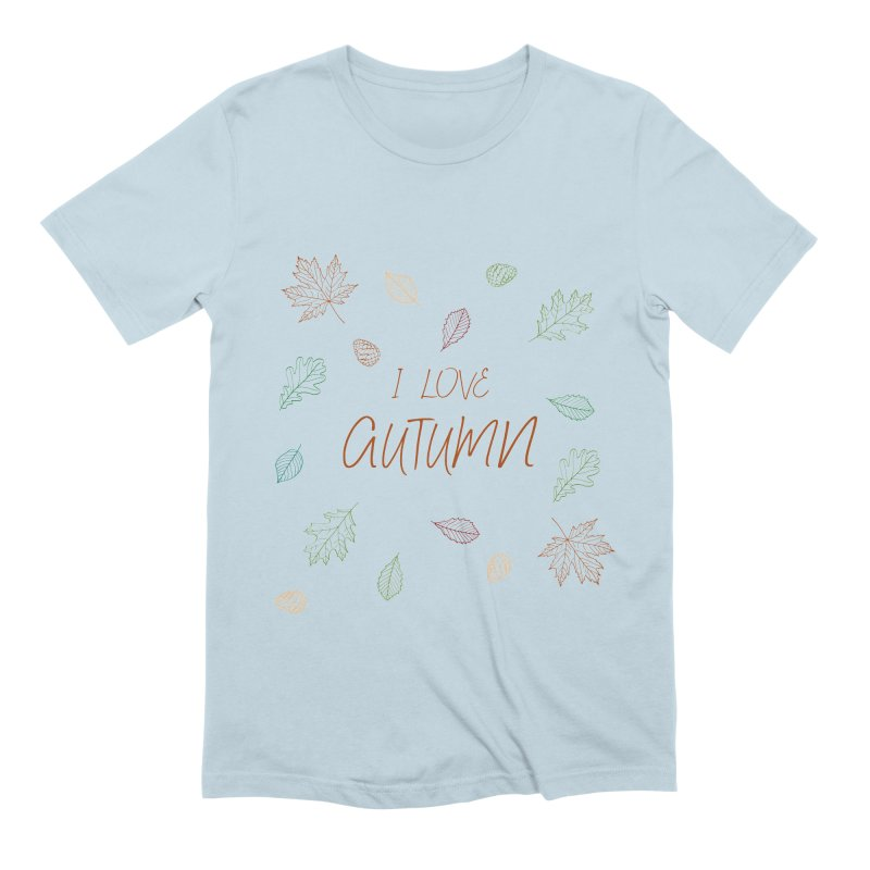 I love autumn Men's Extra Soft T-Shirt by Pbatu's Artist Shop
