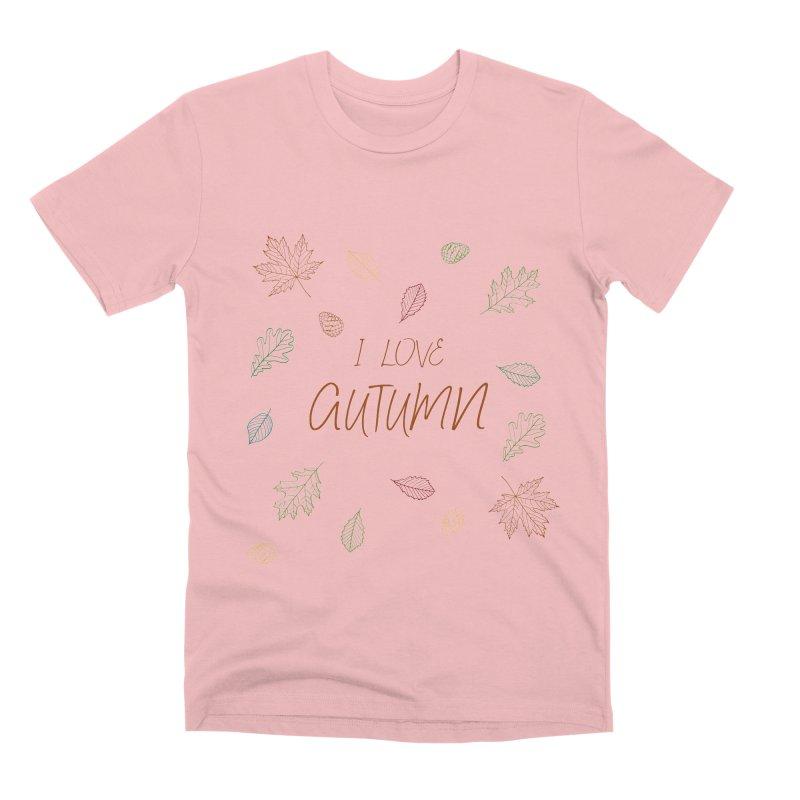 I love autumn Men's Premium T-Shirt by Pbatu's Artist Shop