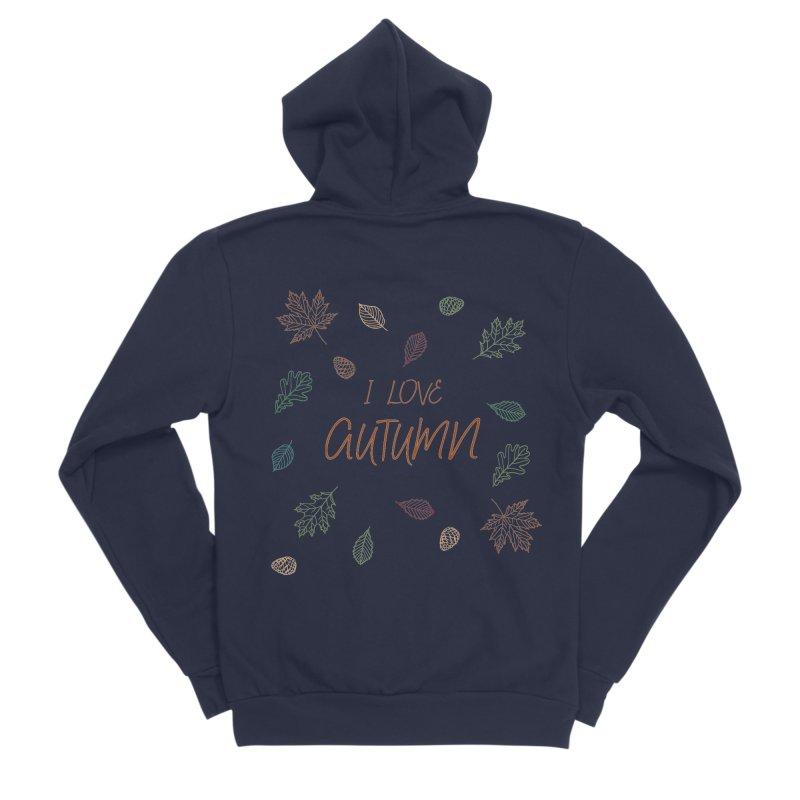 I love autumn Men's Sponge Fleece Zip-Up Hoody by Pbatu's Artist Shop