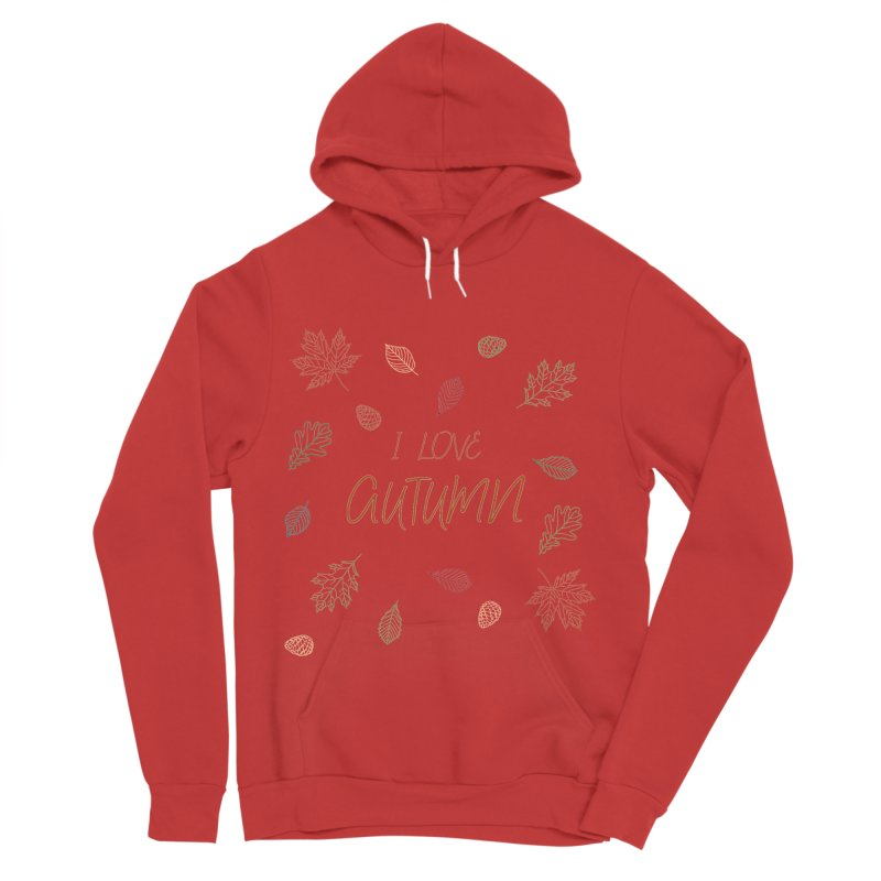 I love autumn Men's Sponge Fleece Pullover Hoody by Pbatu's Artist Shop