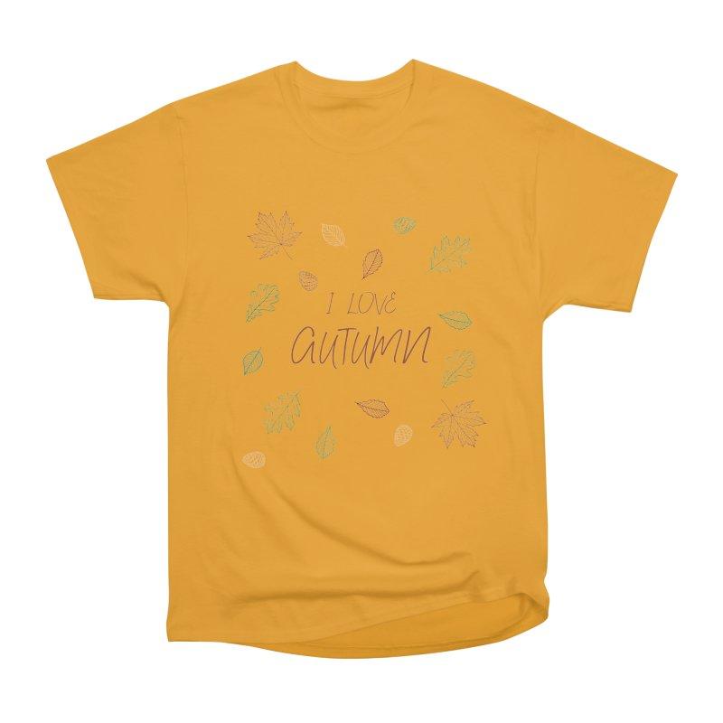 I love autumn Men's Heavyweight T-Shirt by Pbatu's Artist Shop