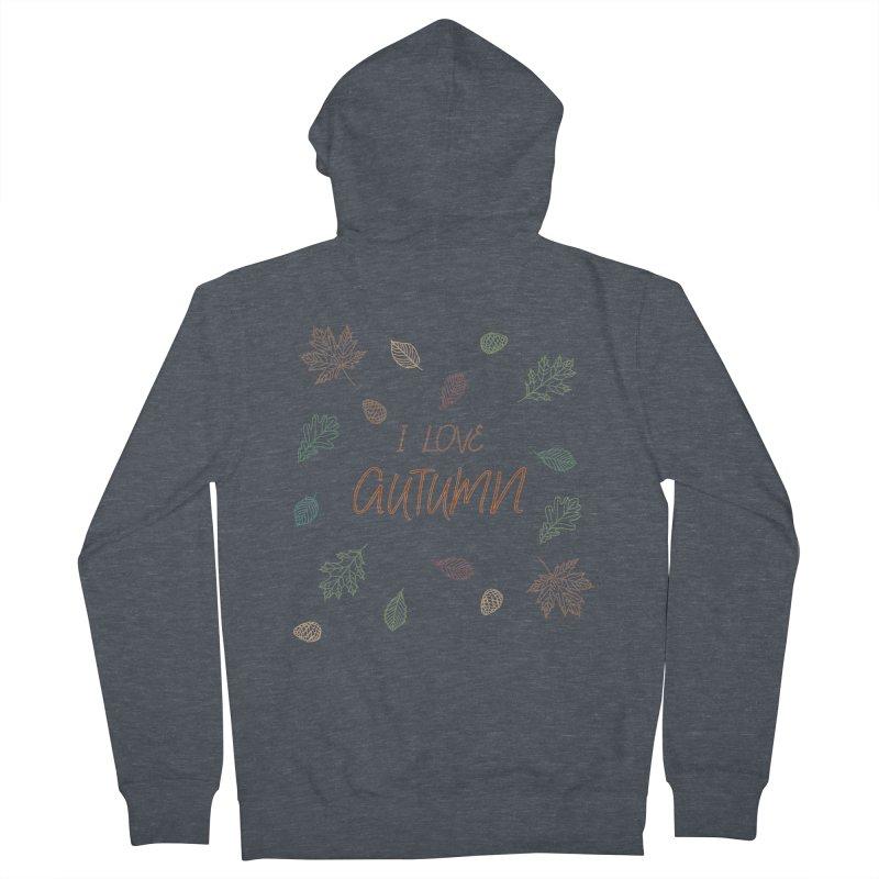 I love autumn Women's Zip-Up Hoody by Pbatu's Artist Shop