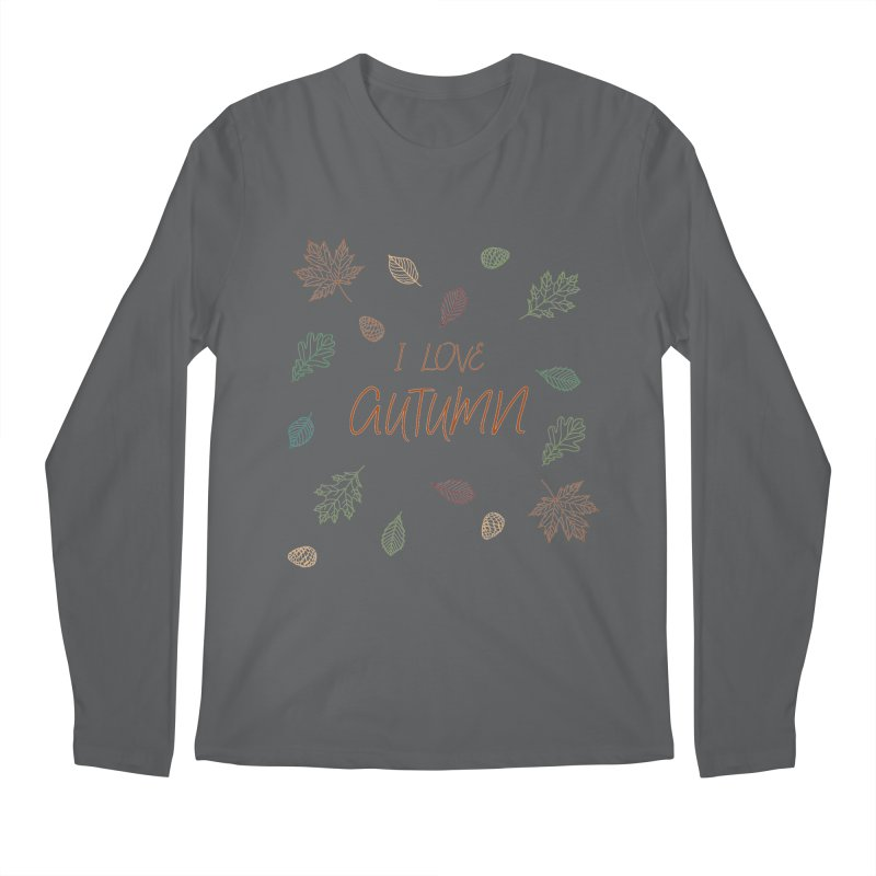 I love autumn Men's Regular Longsleeve T-Shirt by Pbatu's Artist Shop