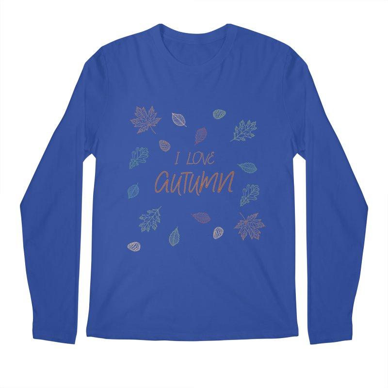 I love autumn Men's Regular Longsleeve T-Shirt by Pbatu's Artist Shop