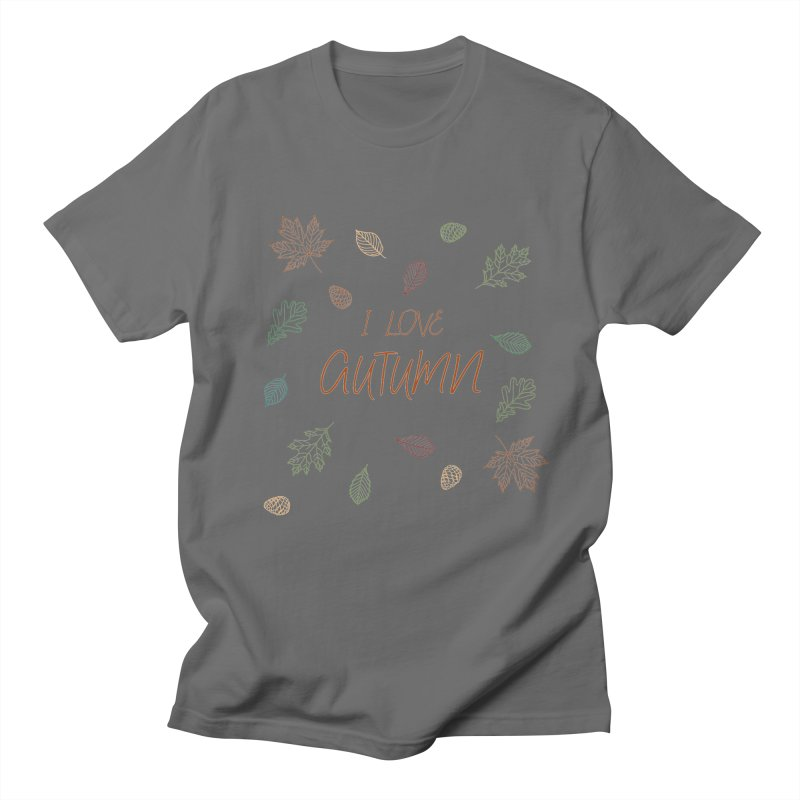 I love autumn Men's T-Shirt by Pbatu's Artist Shop