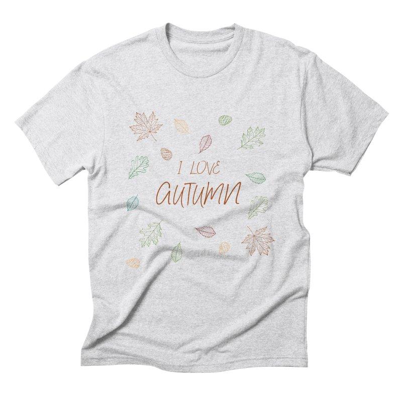 I love autumn Men's Triblend T-Shirt by Pbatu's Artist Shop