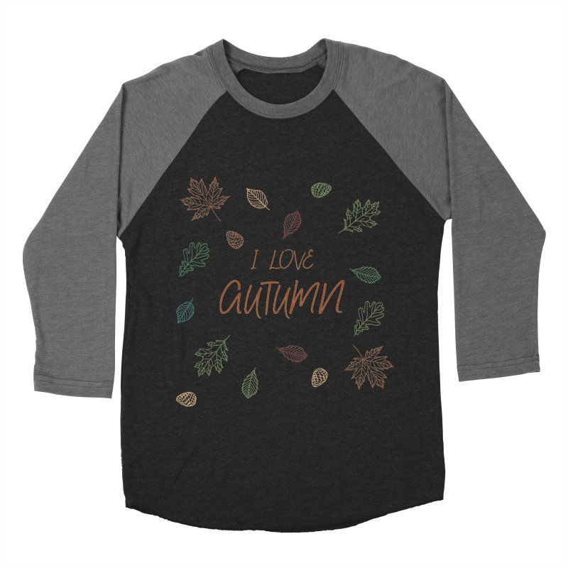 I love autumn Women's Baseball Triblend Longsleeve T-Shirt by Pbatu's Artist Shop