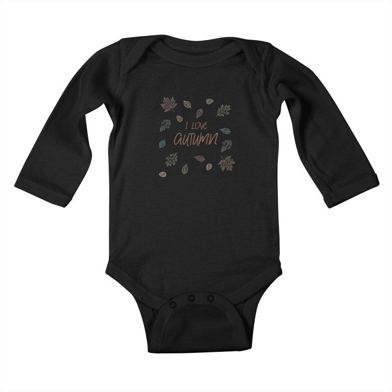 I love autumn Kids Baby Longsleeve Bodysuit by Pbatu's Artist Shop