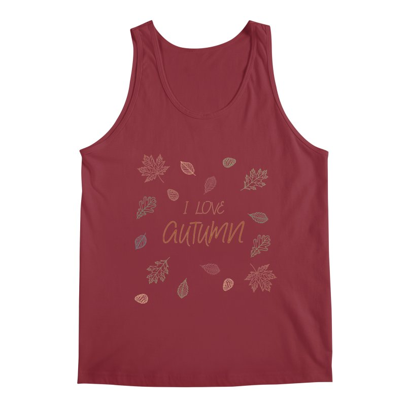 I love autumn Men's Tank by Pbatu's Artist Shop