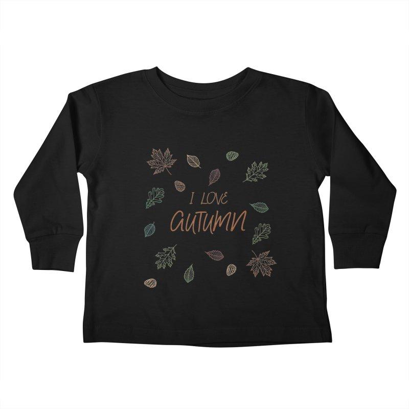 I love autumn Kids Toddler Longsleeve T-Shirt by Pbatu's Artist Shop