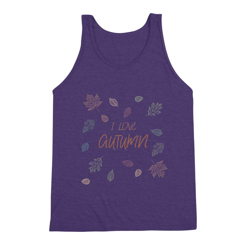 I love autumn Men's Triblend Tank by Pbatu's Artist Shop
