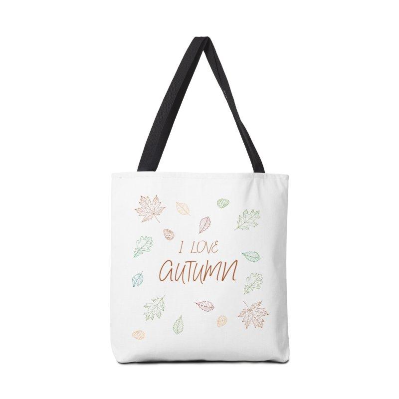 I love autumn Accessories Tote Bag Bag by Pbatu's Artist Shop
