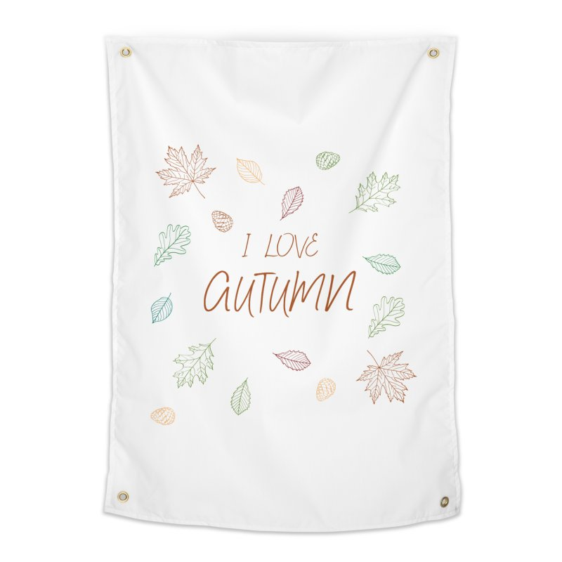 I love autumn Home Tapestry by Pbatu's Artist Shop