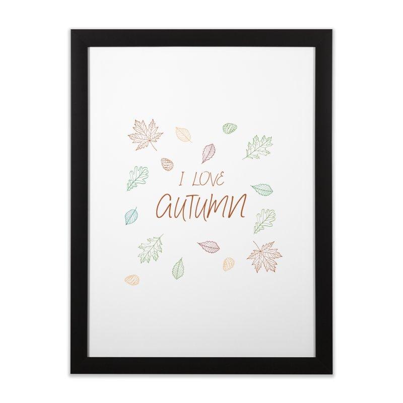 I love autumn Home Framed Fine Art Print by Pbatu's Artist Shop