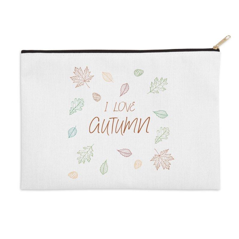 I love autumn Accessories Zip Pouch by Pbatu's Artist Shop