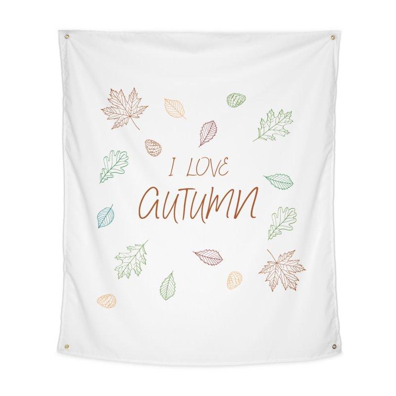 I love autumn Home Tapestry by Pbatu's Artist Shop