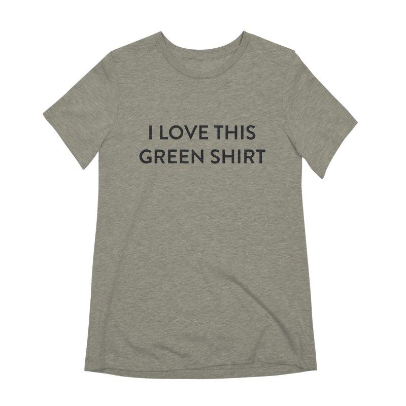 Green shirt Women's T-Shirt by Pbatu's Artist Shop