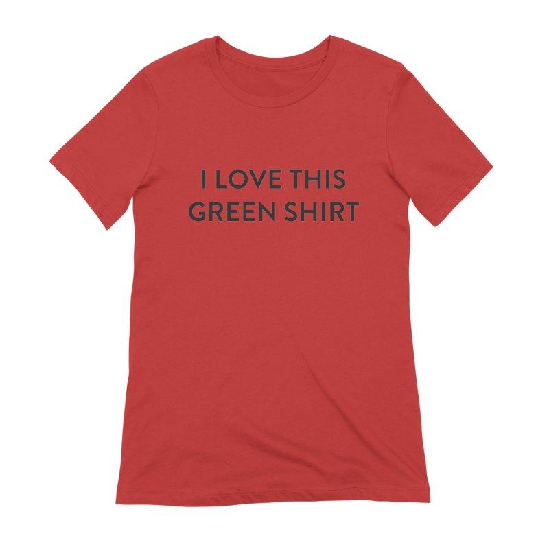 Green shirt Women's Extra Soft T-Shirt by Pbatu's Artist Shop