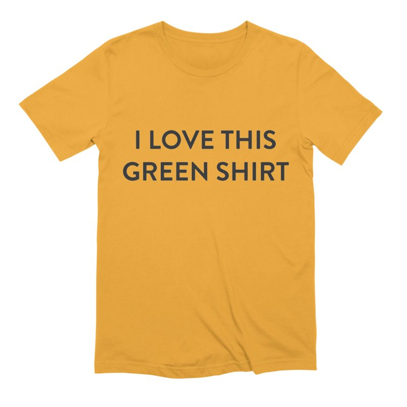 Green shirt Men's Extra Soft T-Shirt by Pbatu's Artist Shop