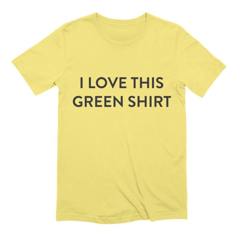 Green shirt Men's Extra Soft T-Shirt by Pbatu's Artist Shop