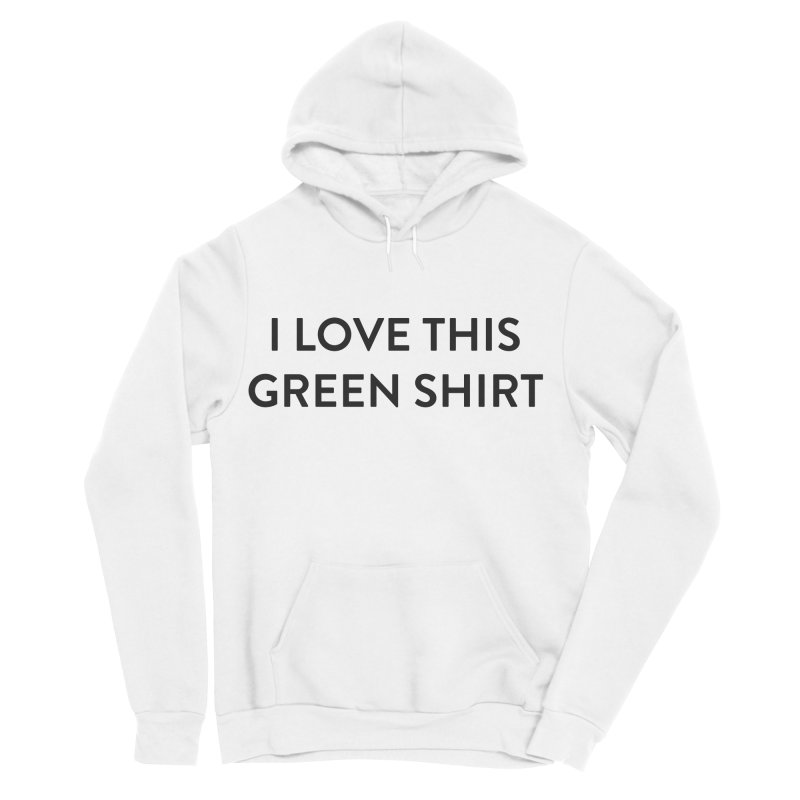 Green shirt Men's Sponge Fleece Pullover Hoody by Pbatu's Artist Shop