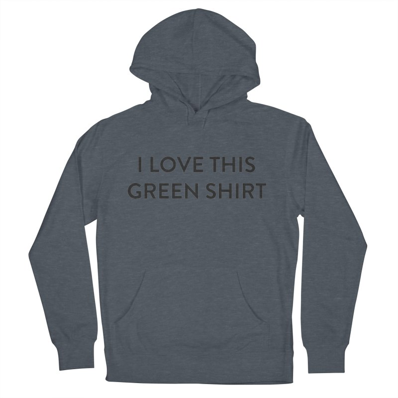 Green shirt Men's French Terry Pullover Hoody by Pbatu's Artist Shop