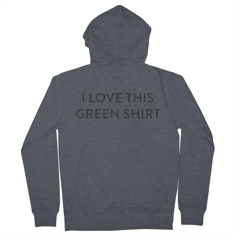 Green shirt Women's French Terry Zip-Up Hoody by Pbatu's Artist Shop