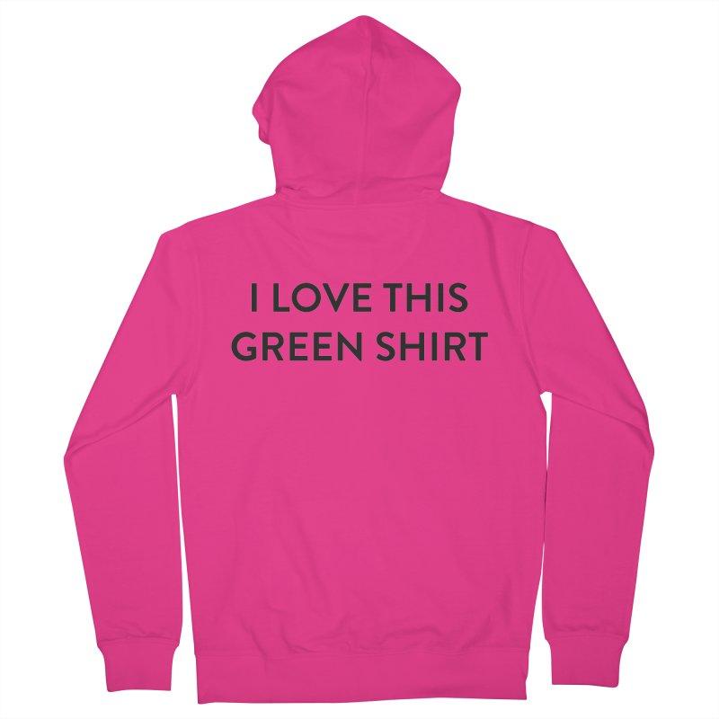 Green shirt Men's French Terry Zip-Up Hoody by Pbatu's Artist Shop