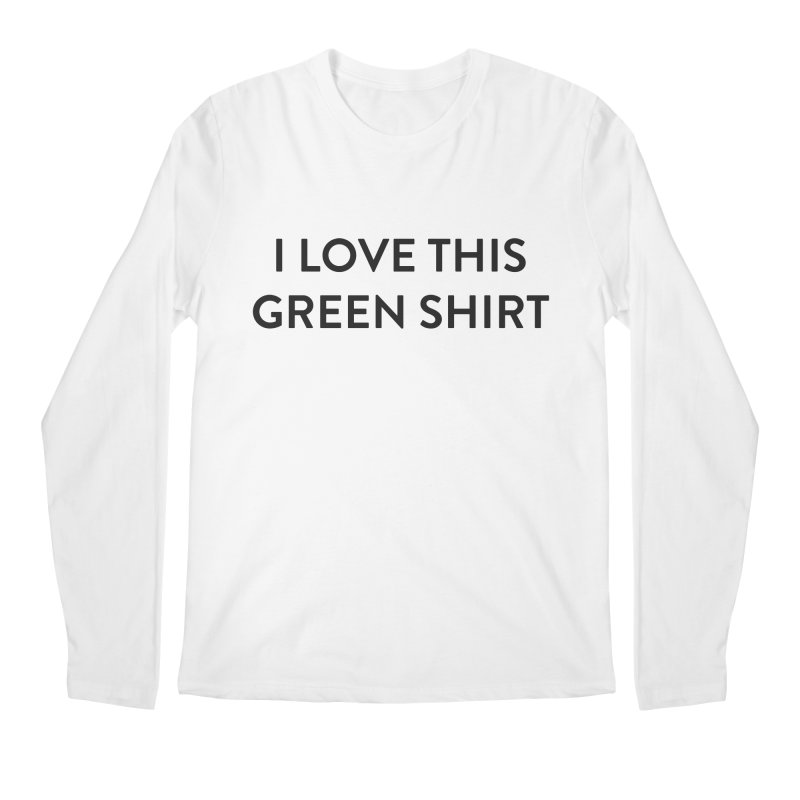 Green shirt Men's Regular Longsleeve T-Shirt by Pbatu's Artist Shop