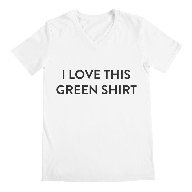 Green shirt Men's Regular V-Neck by Pbatu's Artist Shop