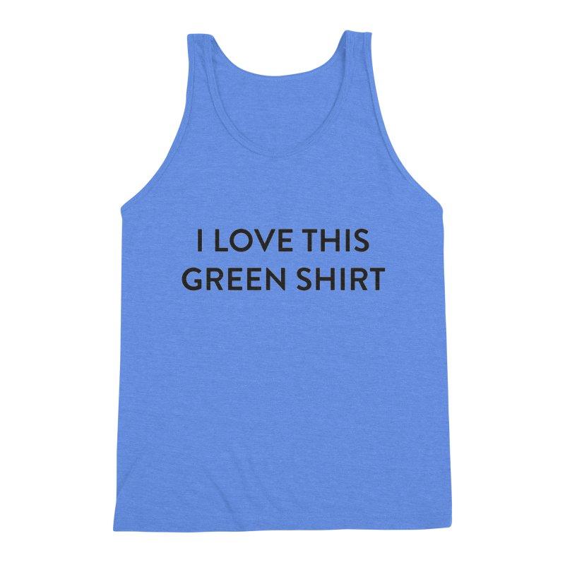 Green shirt Men's Triblend Tank by Pbatu's Artist Shop