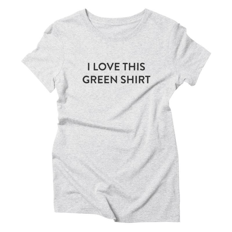 Green shirt Women's Triblend T-Shirt by Pbatu's Artist Shop