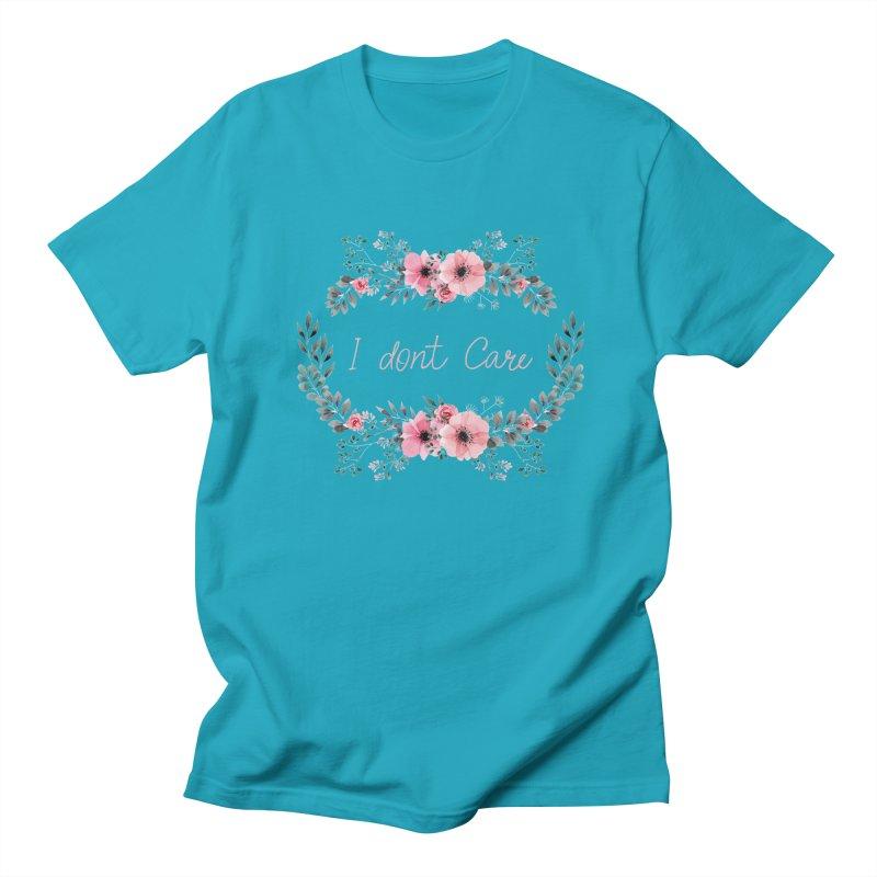 I dont care Men's Regular T-Shirt by Pbatu's Artist Shop