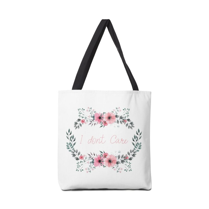 I dont care Accessories Tote Bag Bag by Pbatu's Artist Shop