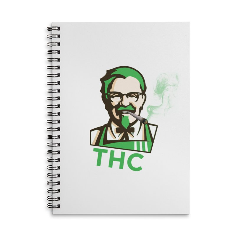 General THC Accessories Lined Spiral Notebook by Pbatu's Artist Shop