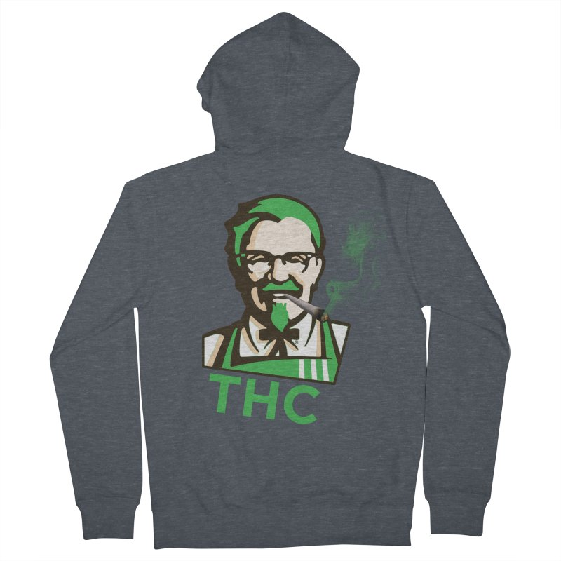 General THC Men's French Terry Zip-Up Hoody by Pbatu's Artist Shop