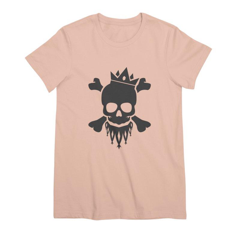 Joker Skull King Women's Premium T-Shirt by Pbatu's Artist Shop