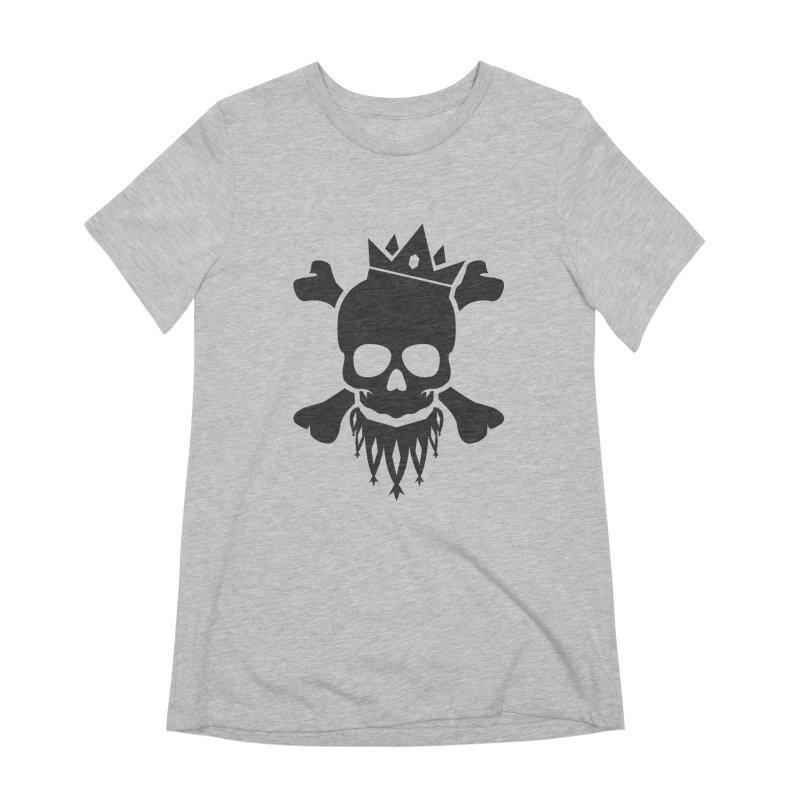 Joker Skull King Women's Extra Soft T-Shirt by Pbatu's Artist Shop