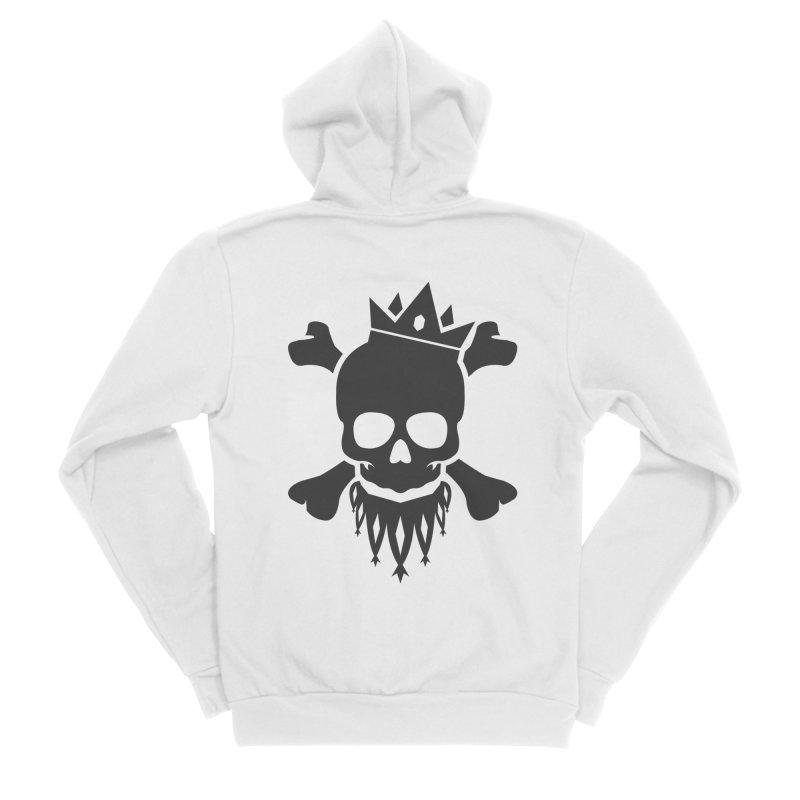 Joker Skull King Men's Sponge Fleece Zip-Up Hoody by Pbatu's Artist Shop