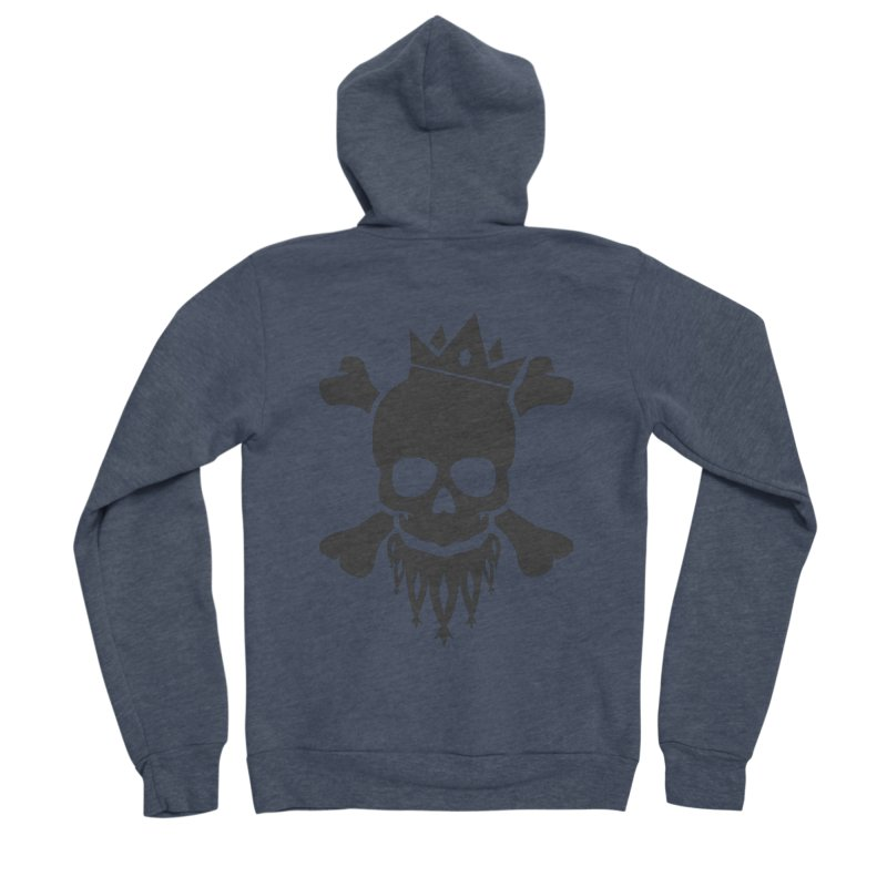Joker Skull King Women's Sponge Fleece Zip-Up Hoody by Pbatu's Artist Shop