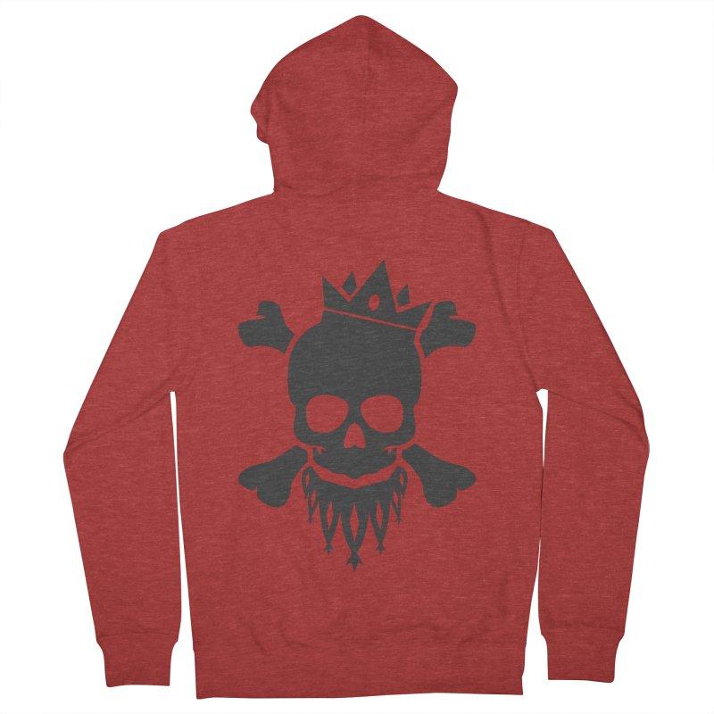 Joker Skull King Men's French Terry Zip-Up Hoody by Pbatu's Artist Shop