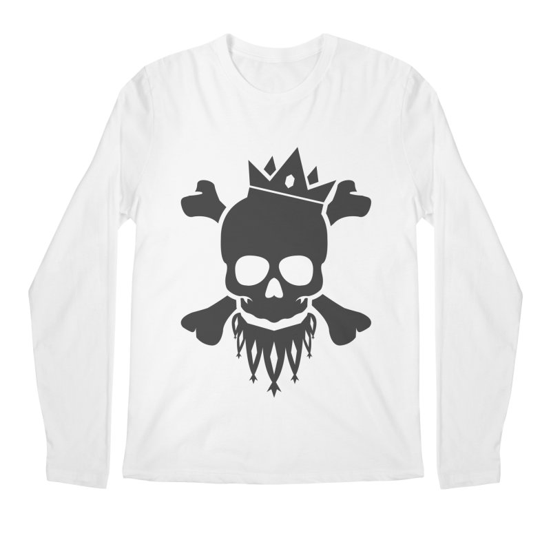 Joker Skull King Men's Regular Longsleeve T-Shirt by Pbatu's Artist Shop