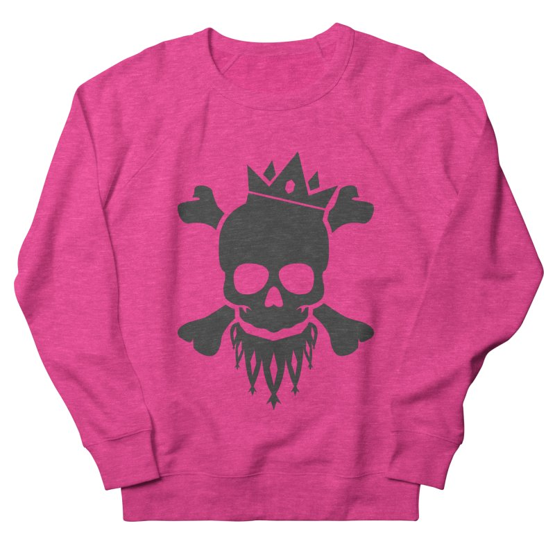 Joker Skull King Men's French Terry Sweatshirt by Pbatu's Artist Shop