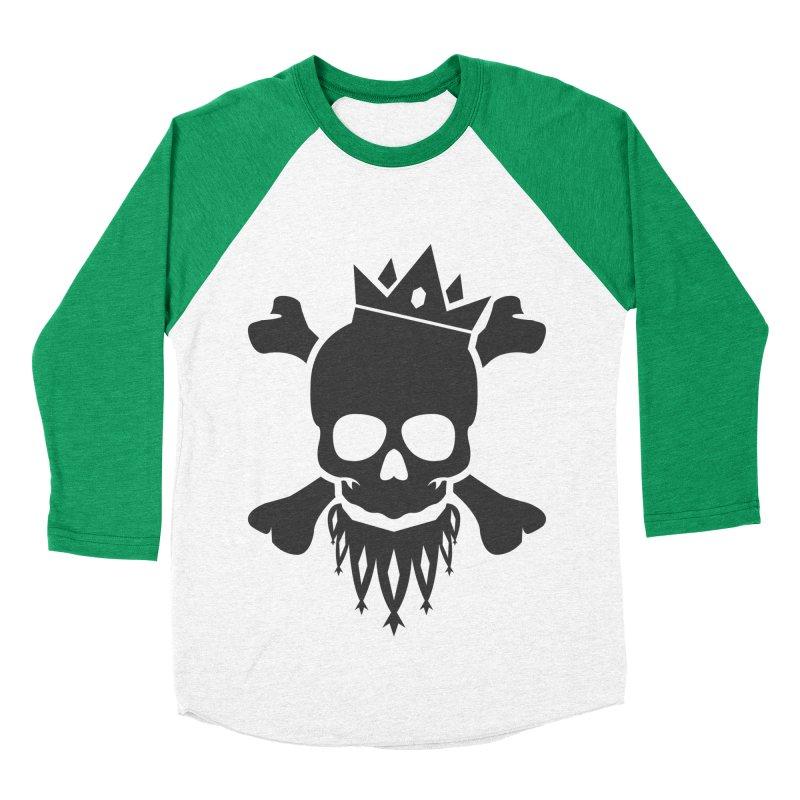 Joker Skull King Women's Baseball Triblend Longsleeve T-Shirt by Pbatu's Artist Shop