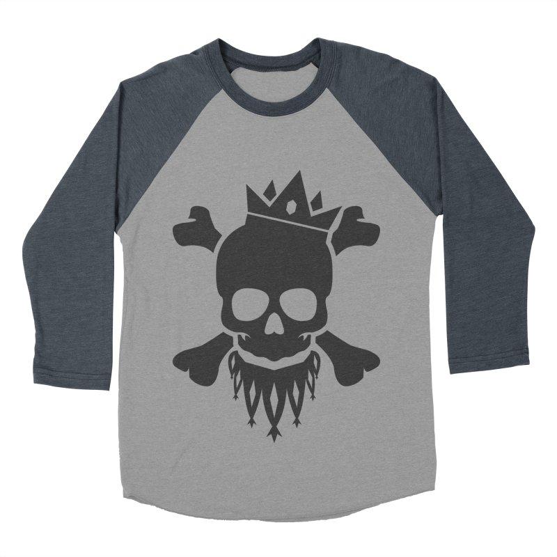 Joker Skull King Men's Baseball Triblend Longsleeve T-Shirt by Pbatu's Artist Shop
