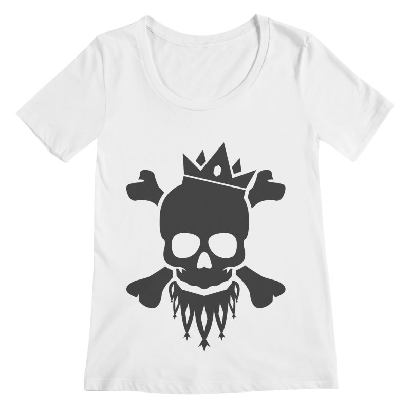 Joker Skull King Women's Regular Scoop Neck by Pbatu's Artist Shop